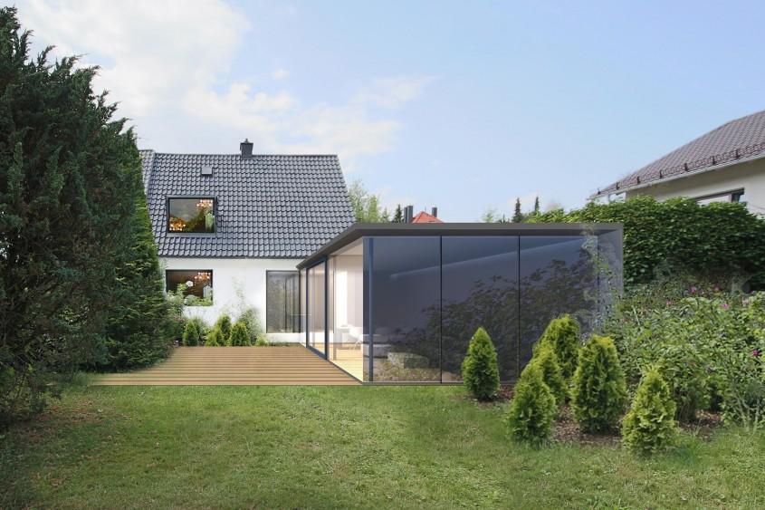 Einfamilienhaus in München Waldperlach Grundstück
