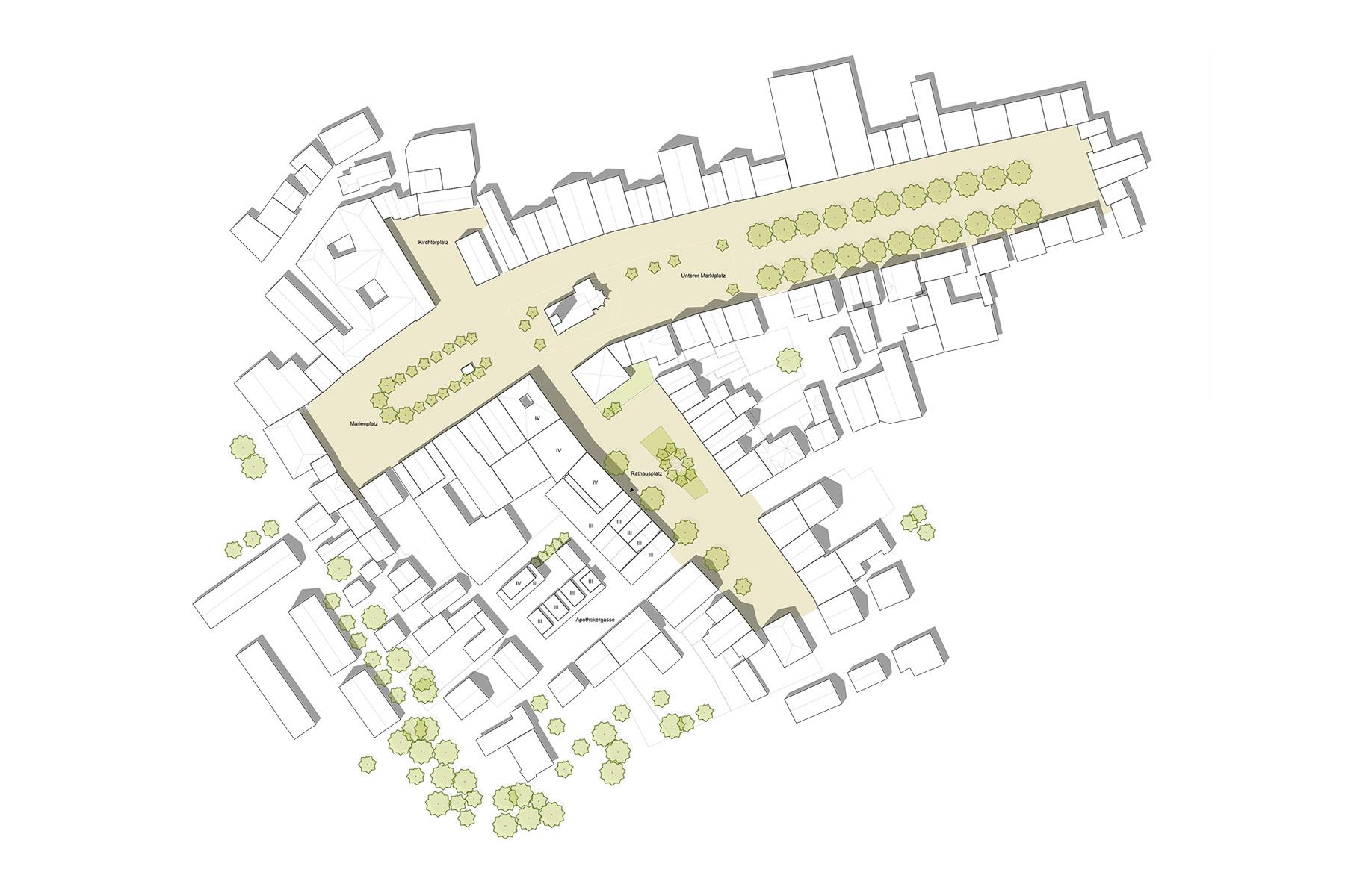 Rathaus Dorfen Altstadt Lageplan