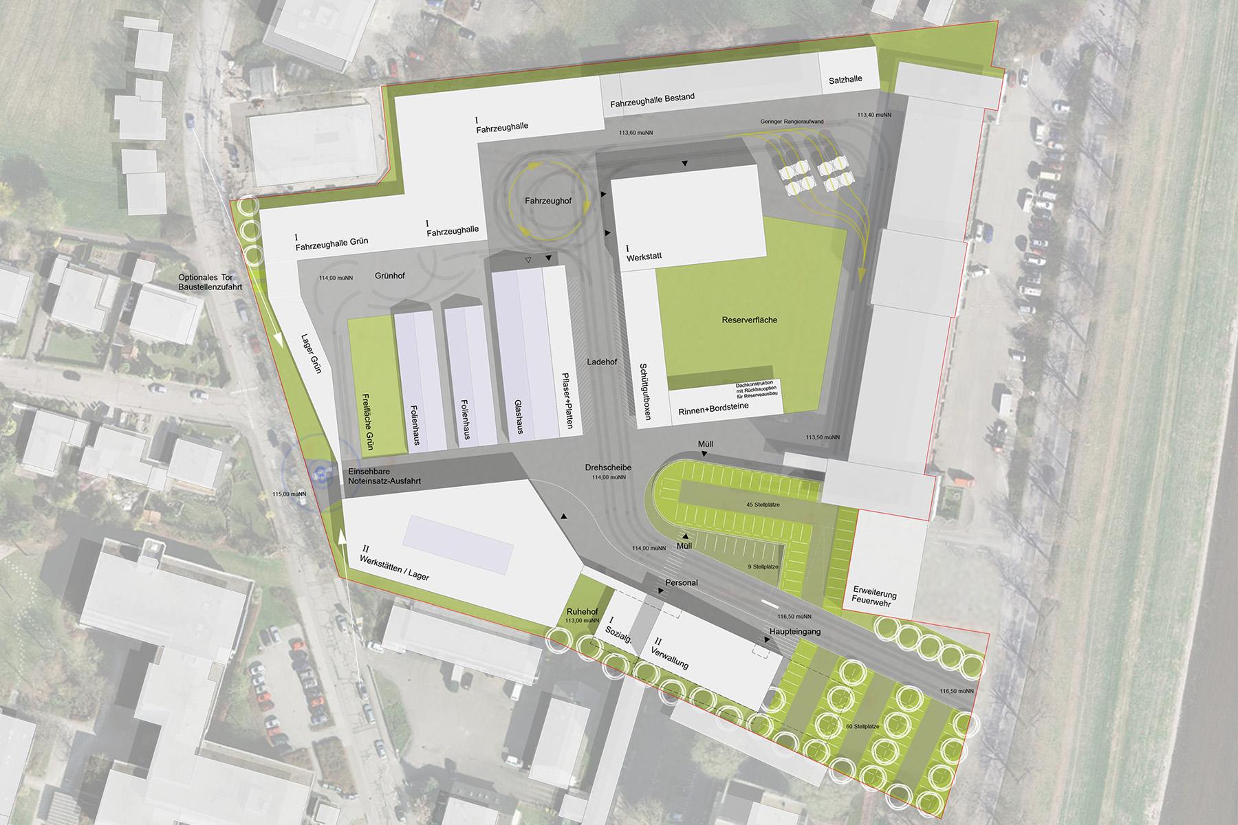 Technische Betriebe Rastatt Lageplan